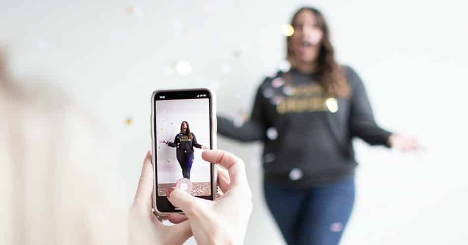 Filming Instagram Marketing Video