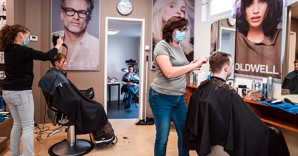 Hair salon reopening during coronavirus pandemic