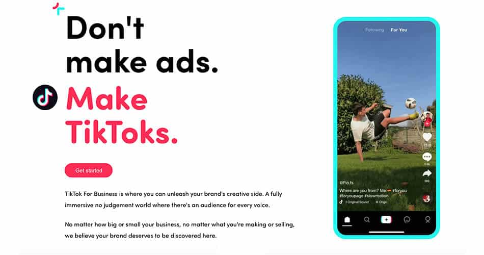 Don't Make Ads Make TikToks