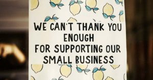 Support Local Business - Thank You Message