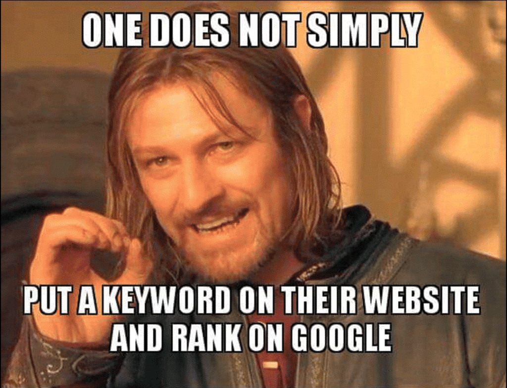 One Does Not Simply Put a Keyword Meme