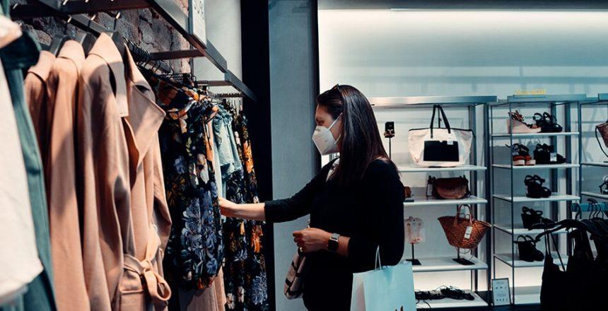 customer shopping at retail during the coronavirus pandemic