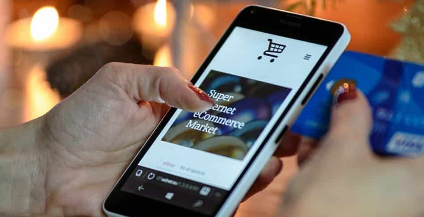 Mobile Phone Credit Card Purchase on E-Commerce Site